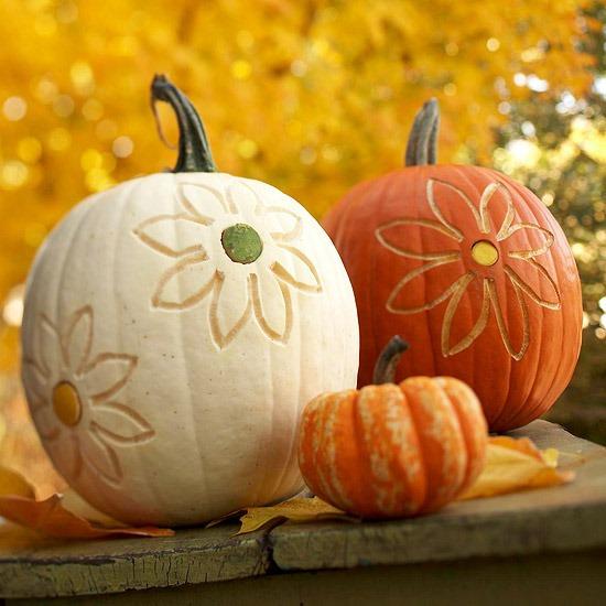 flowered pumpkins