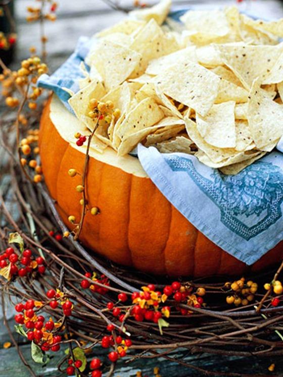 serve food out of pumpkins