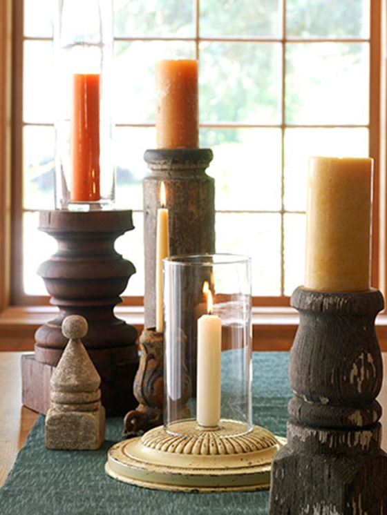 table legs candle holders