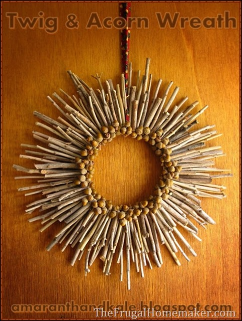 twig and acorn wreath