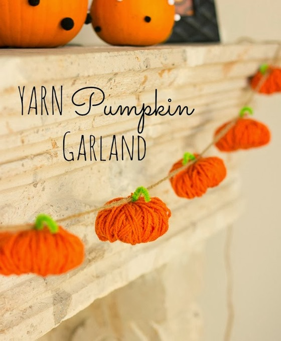 yard pumpkin garland