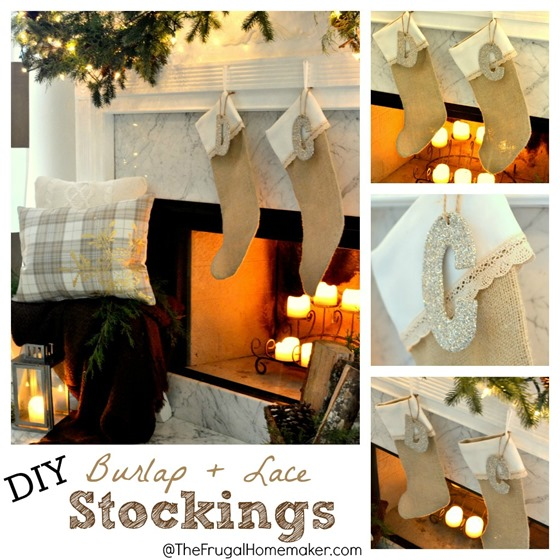 DIY Burlap + Lace Stockings