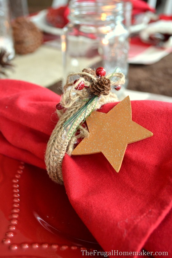 napkin ring from a Christmas ornament