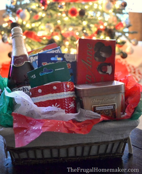 Be a blessing Christmas gift basket with gift cards from Kroger