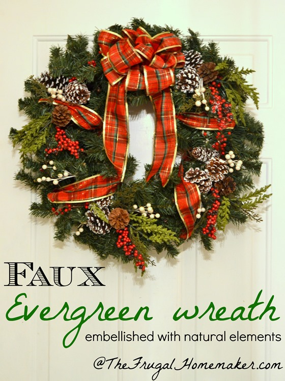 Faux Evergreen Wreath