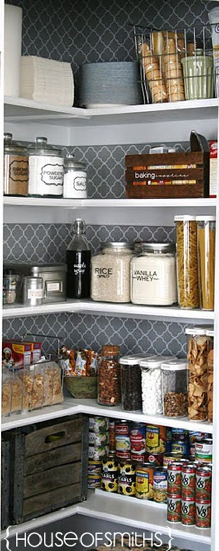 House of Smith's stenciled pantry