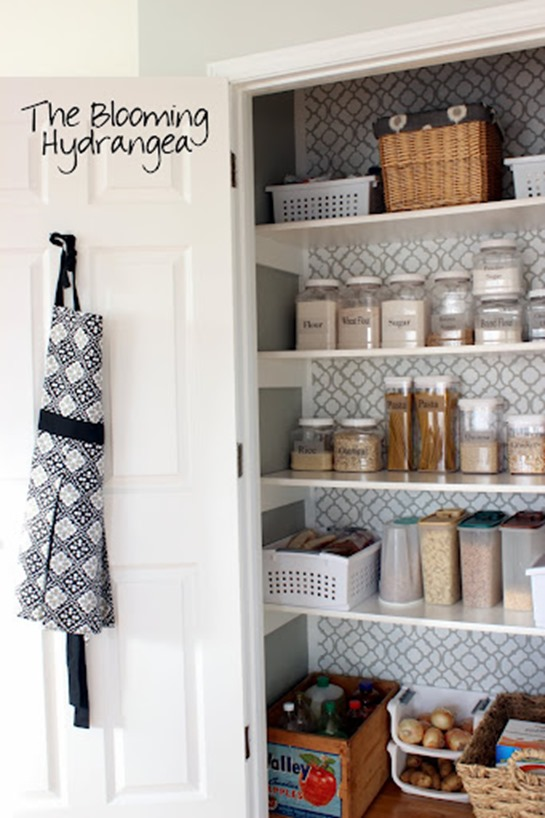 apron hung on hook in pantry