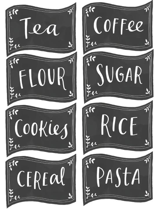 free pantry labels