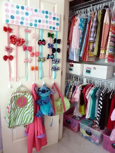 girls storage on back of door