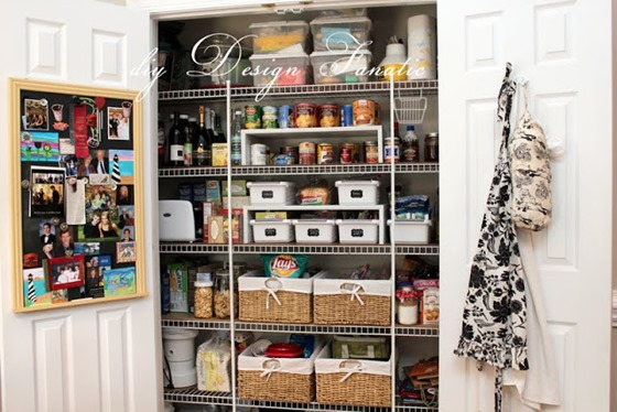 organize with baskets and bins