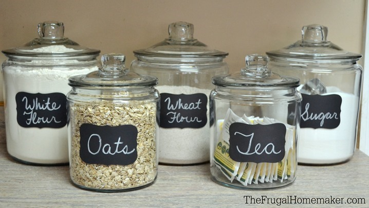 Adding some chalkboard label fun to my glass canisters