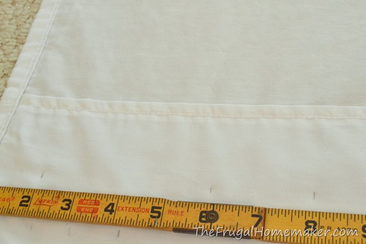 How to make no-sew back-tab curtain from a sheet