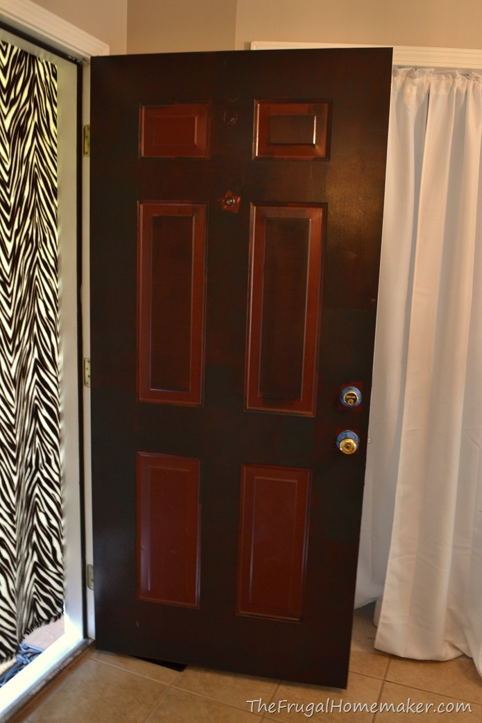 Front door makeover with new Behr Marquee paint