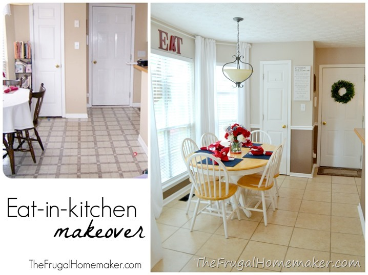 Eat in kitchen makeover (+ how to easily add more height to your room)