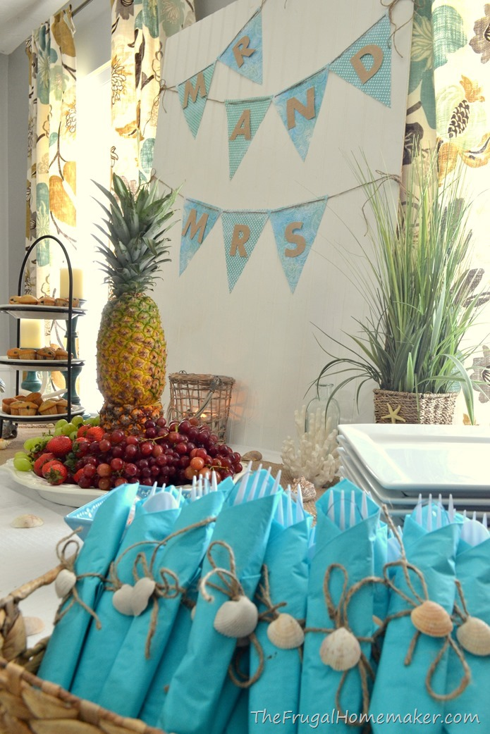 beach theme wedding decoration ideas bridal brunch at the themed wedding shower 1548