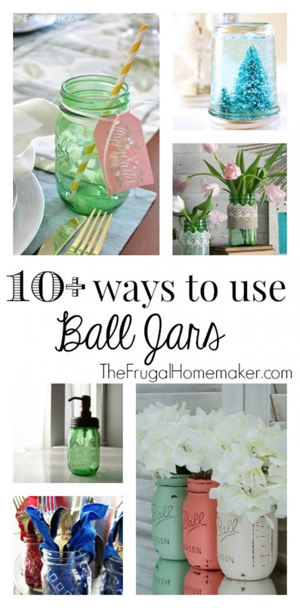 10+ ways to use Ball Jars (+ enter to win your own green vintage Ball jars!)