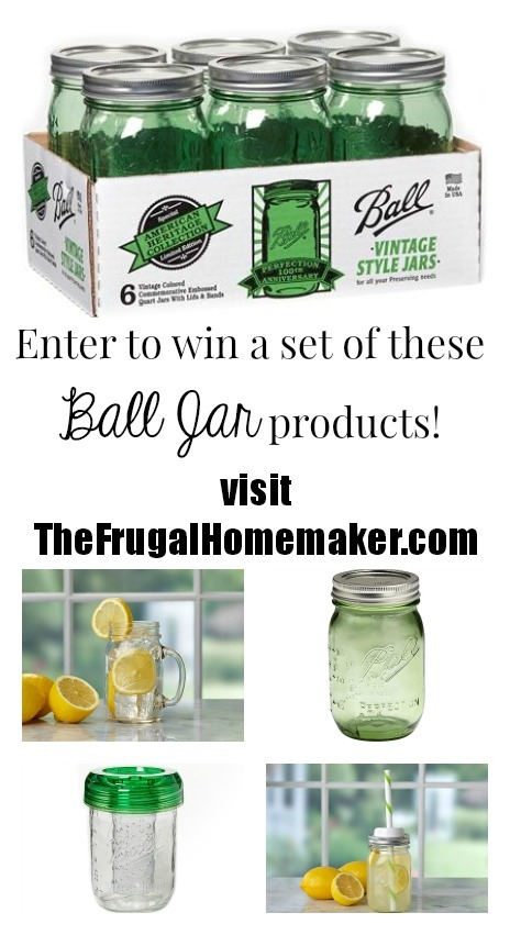Ball jar products giveaway