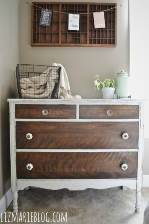 stained drawer fronts