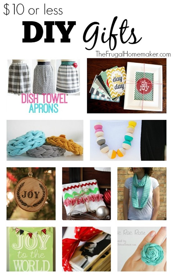 $10 or less DIY Homemade Gifts