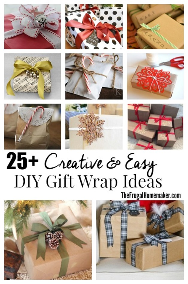25+ Simple & Creative DIY Gift Wrap Ideas (Day 13 of 31 days to take the Stress out of Christmas)