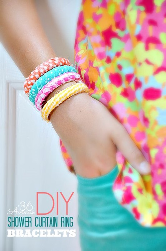 DIY Shower Ring bracelets