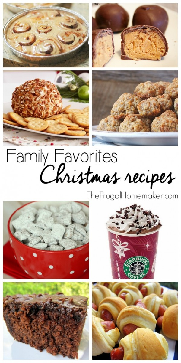 Family Favorites Christmas Recipes (Day 22 of 31 days to take the Stress out of Christmas)