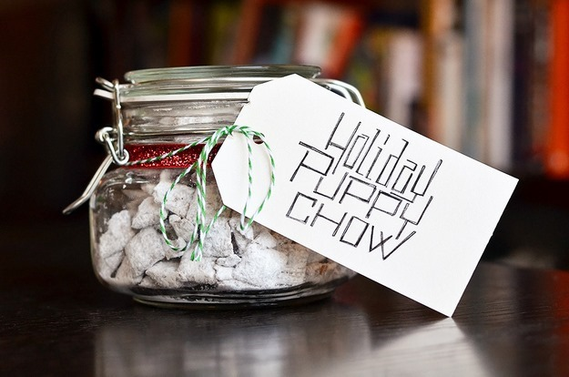 Puppy Chow in a jar