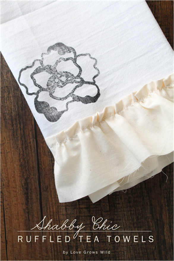 Shabby-Chic-Ruffled-Tea-Towels