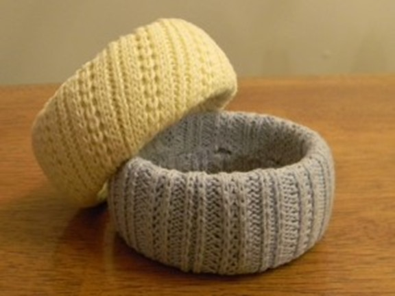 Sweater covered bracelets