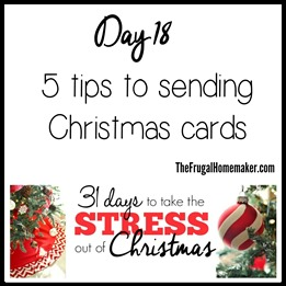 5 tips on sending Christmas cards
