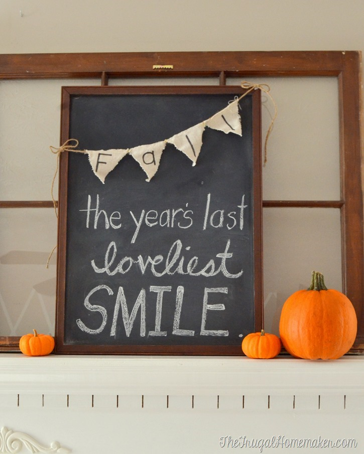 Fall the year's last loveliest smile chalkboard