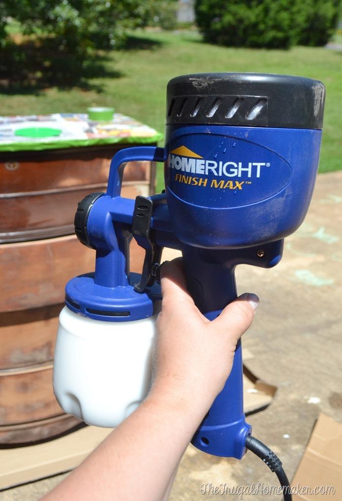 Finish Max sprayer to paint furniture