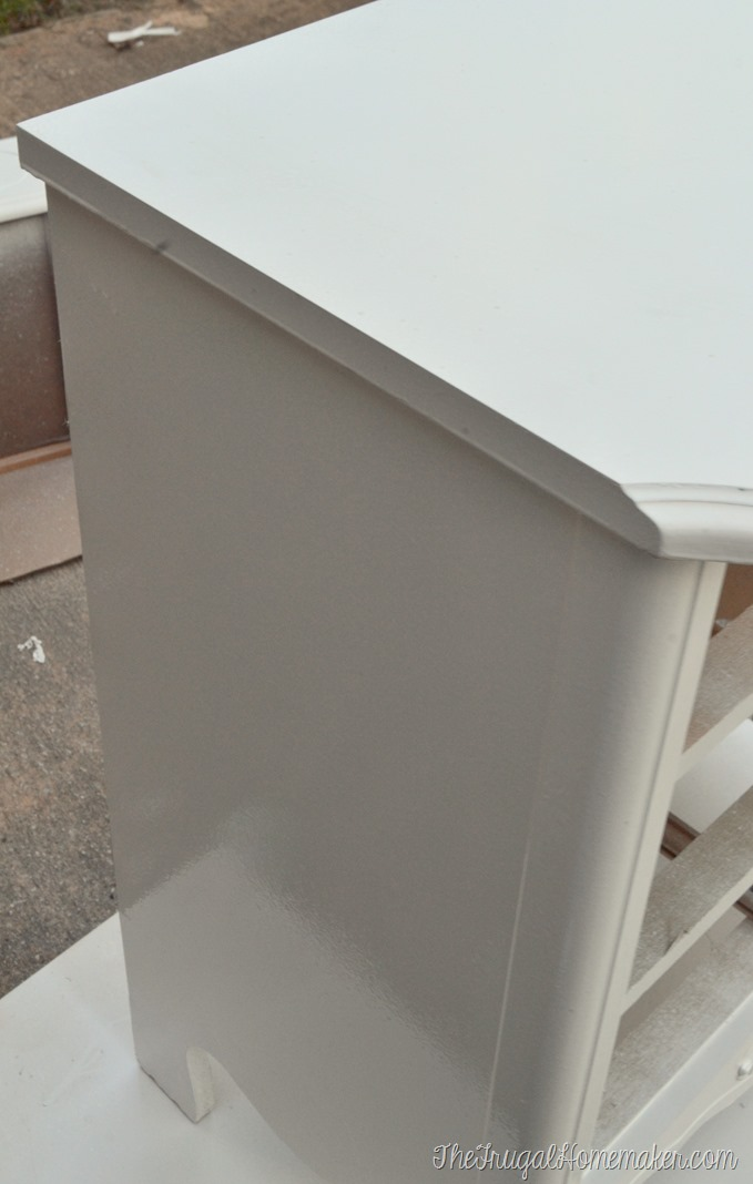 Painted nightstand - in process (2)