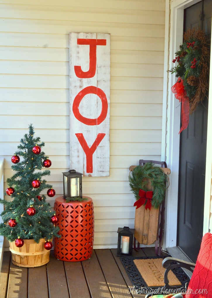 Rustic JOY Christmas Sign (Behr Holiday Hues)