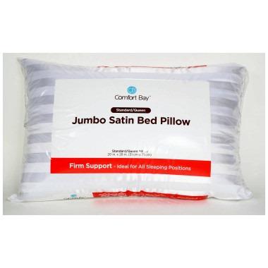 jumbo satin bed pillow