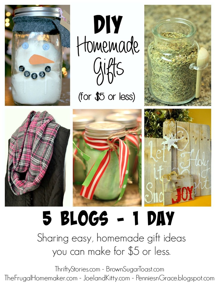 DIY Homemade gifts (for $5 or less)
