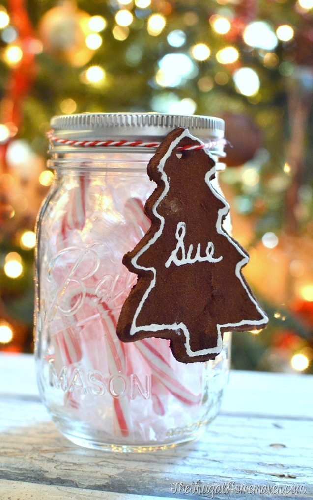These pretty Cinnamon Scented Ornaments are so easy to make! Use them to embellish packages, write on them with paint to use as the tag on the present, or even just hang on the tree.