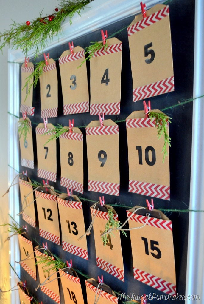 DIY Christmas Countdown Calendar (Advent Calendar)