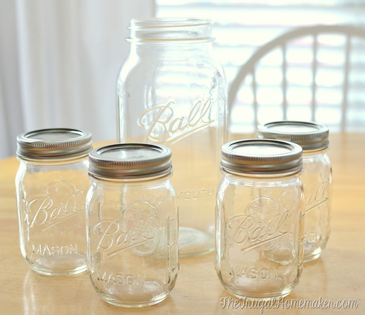 Mason jars from Michaels