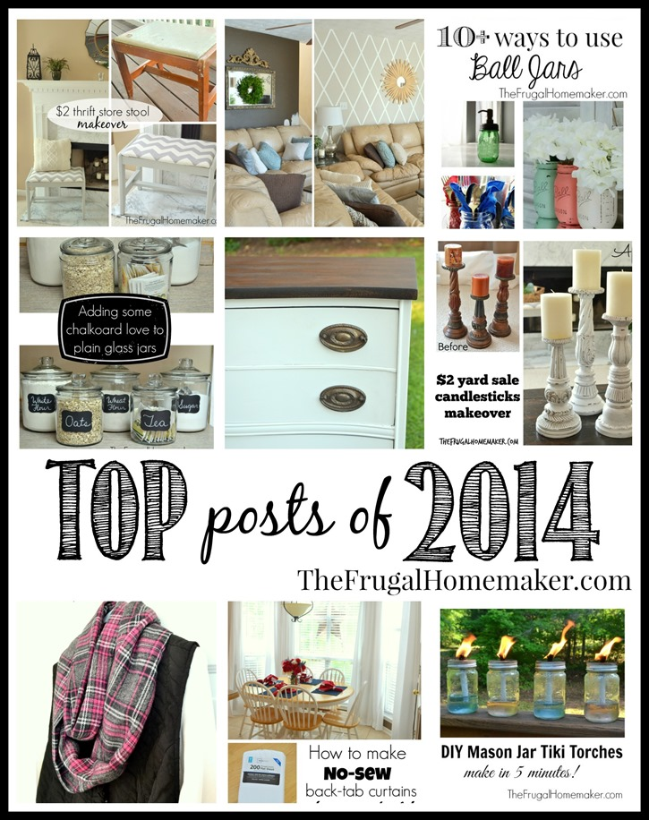 Top posts of 2014 -TheFrugalHomemaker.com