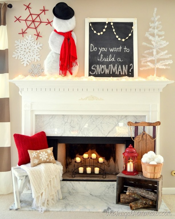 """Do You Want to Build a Snowman"" Winter Mantel"