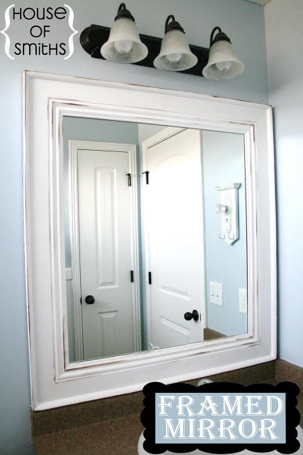 framing bathroom mirrors diy 10 diy ideas for how to frame that basic bathroom mirror 18410