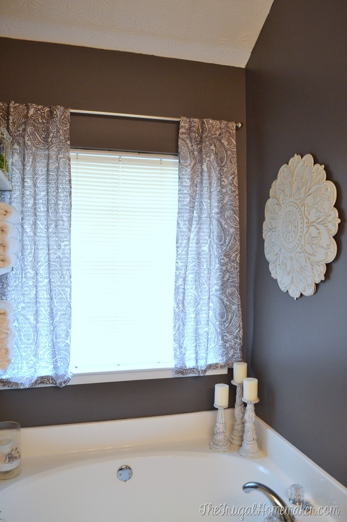 Curtains in the Master Bathroom