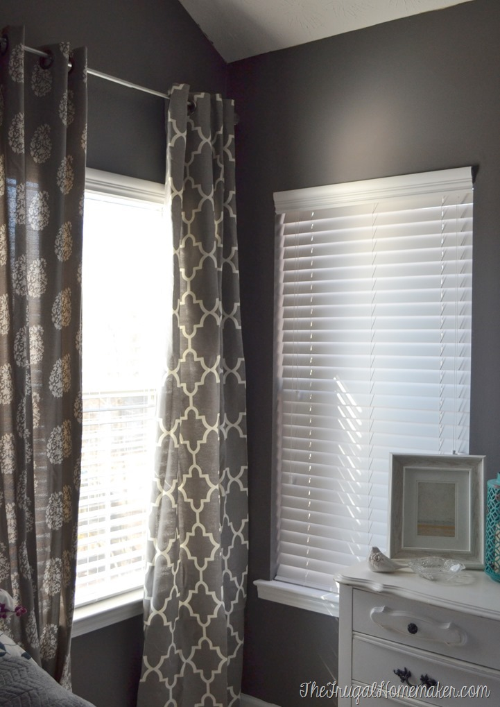 New Faux Wood white blinds in the Master Bedroom