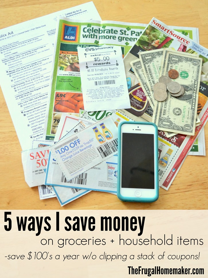 5 ways I save money on groceries and household items