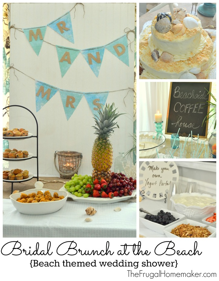 Bridal Brunch at the Beach {Beach themed wedding shower}