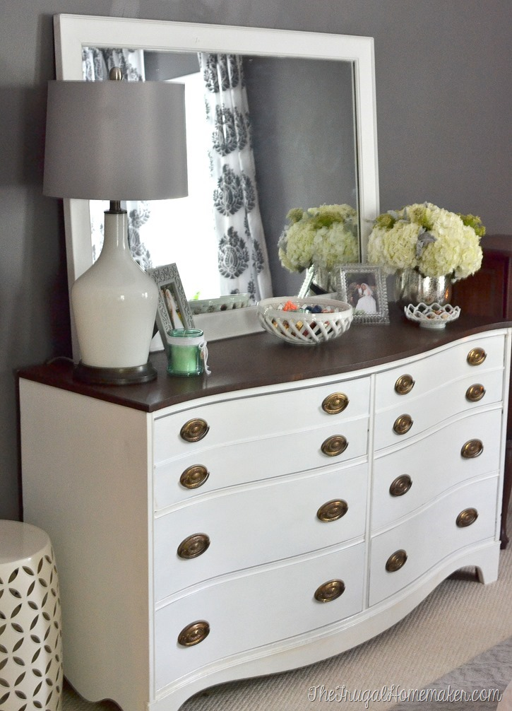 painted dresser and mirror makeover master bedroom furniture 10419 | dsc 0832