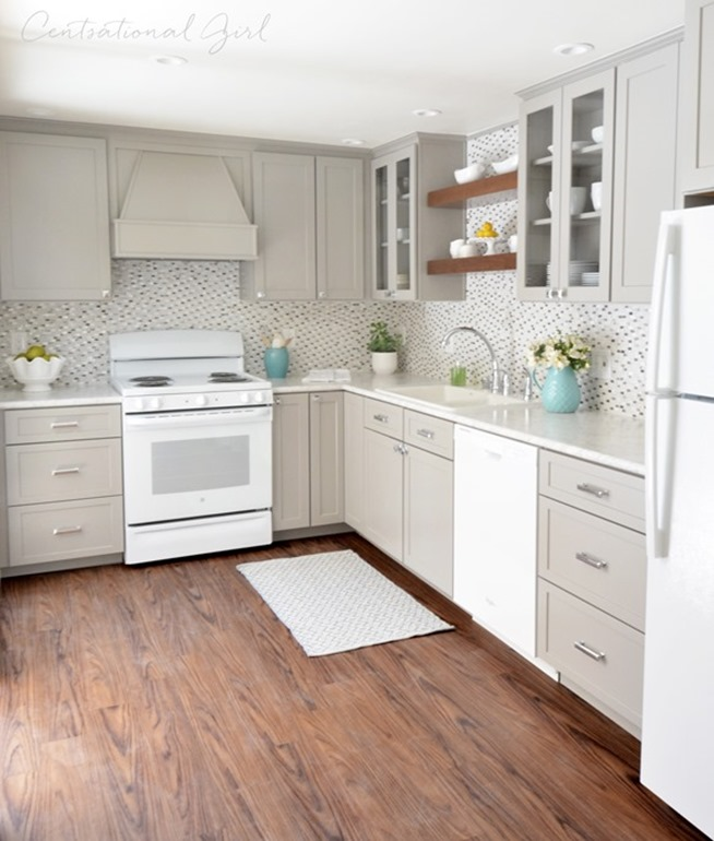 White Kitchen Cabinets With Gray Countertops: White Carrara Laminate Countertop