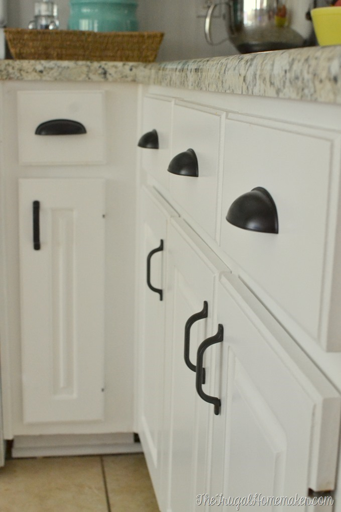 farmhouse kitchen cabinet hardware how to re paint your yucky white cabinets 15278