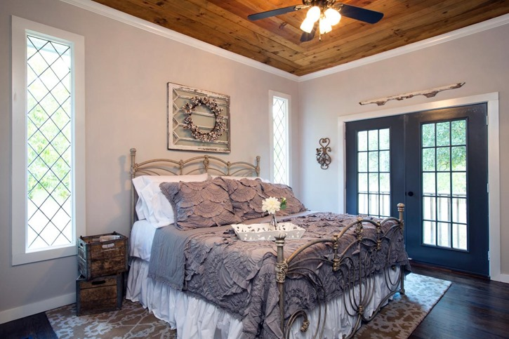 Fixer Upper uses old window over bed